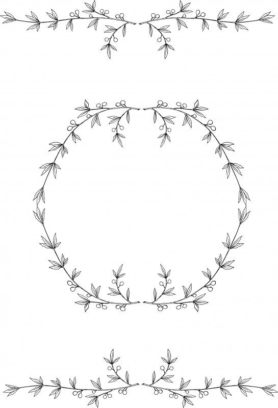 Free Olive Wreath Clip Art Stock Vector Oh So Nifty Vintage