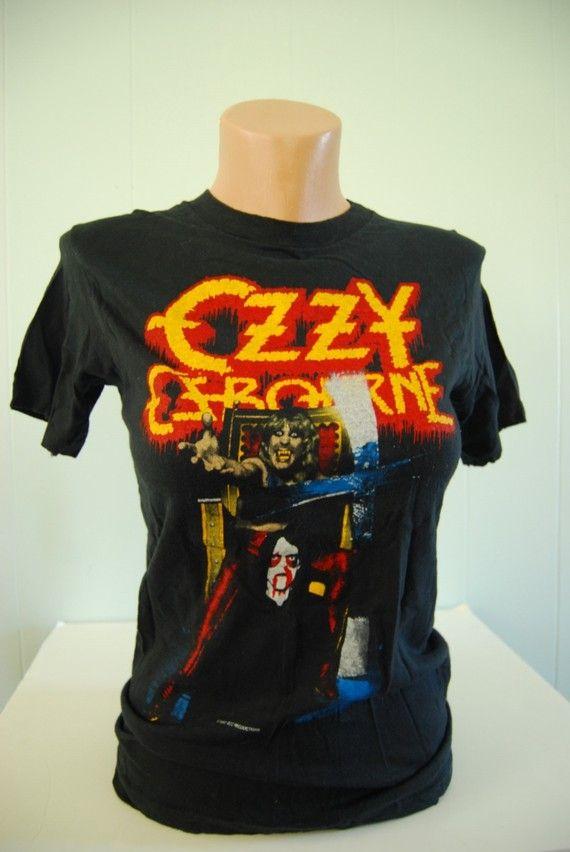 113ca4b5e Authentic Vintage Ozzy Osbourne TShirt Speak of the Devil Tour 82-83 80s  SMALL