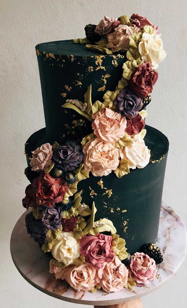 The 50 Most Beautiful Wedding Cakes – Black wedding cake