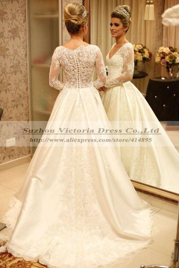 mahenes de vestido de novia manga larga - Buscar con Google | BODA ...