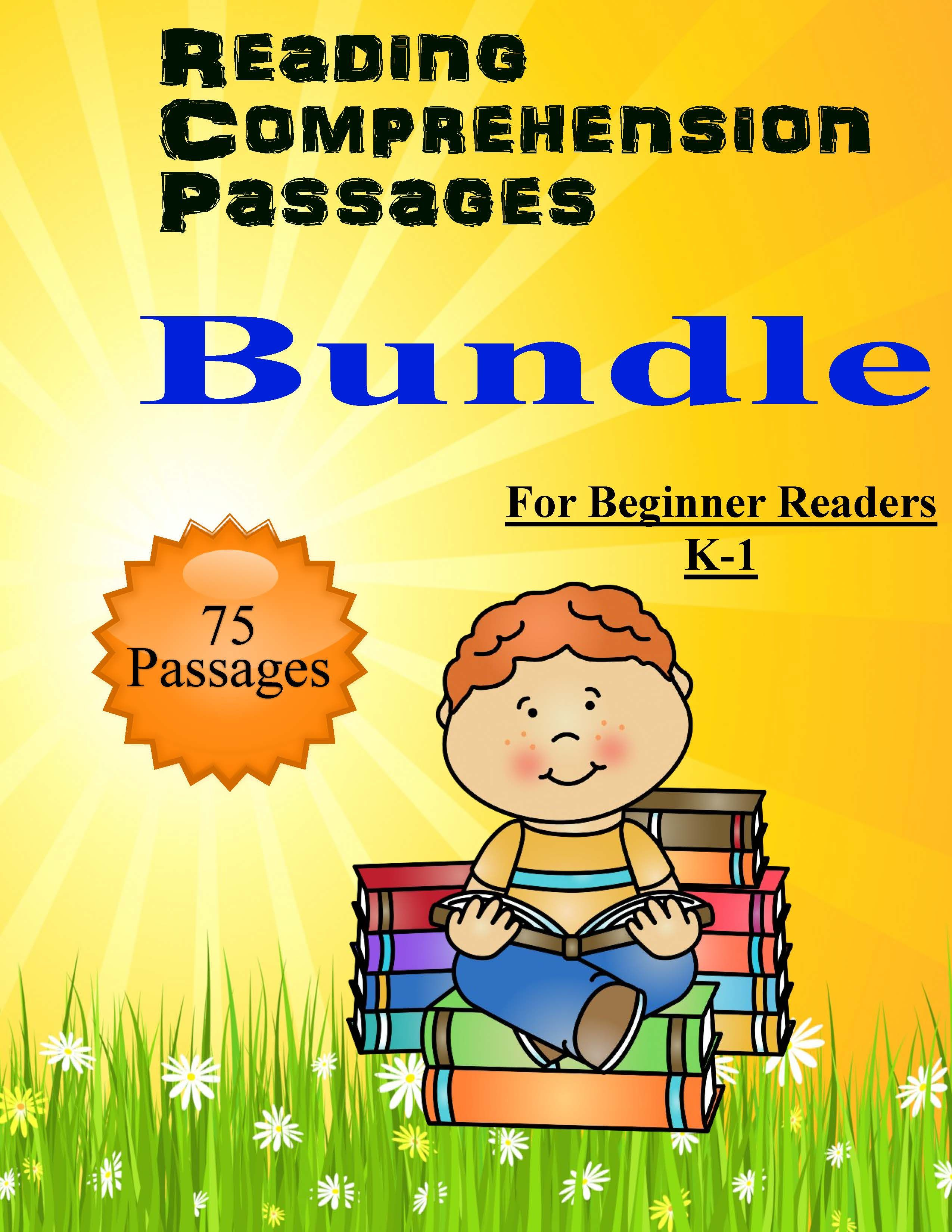 Reading Comprehension 75 Passages For Beginners K 1 Bundle Three Booklets As Students Pr Reading Passages Reading Comprehension Reading Comprehension For Kids [ 3300 x 2550 Pixel ]