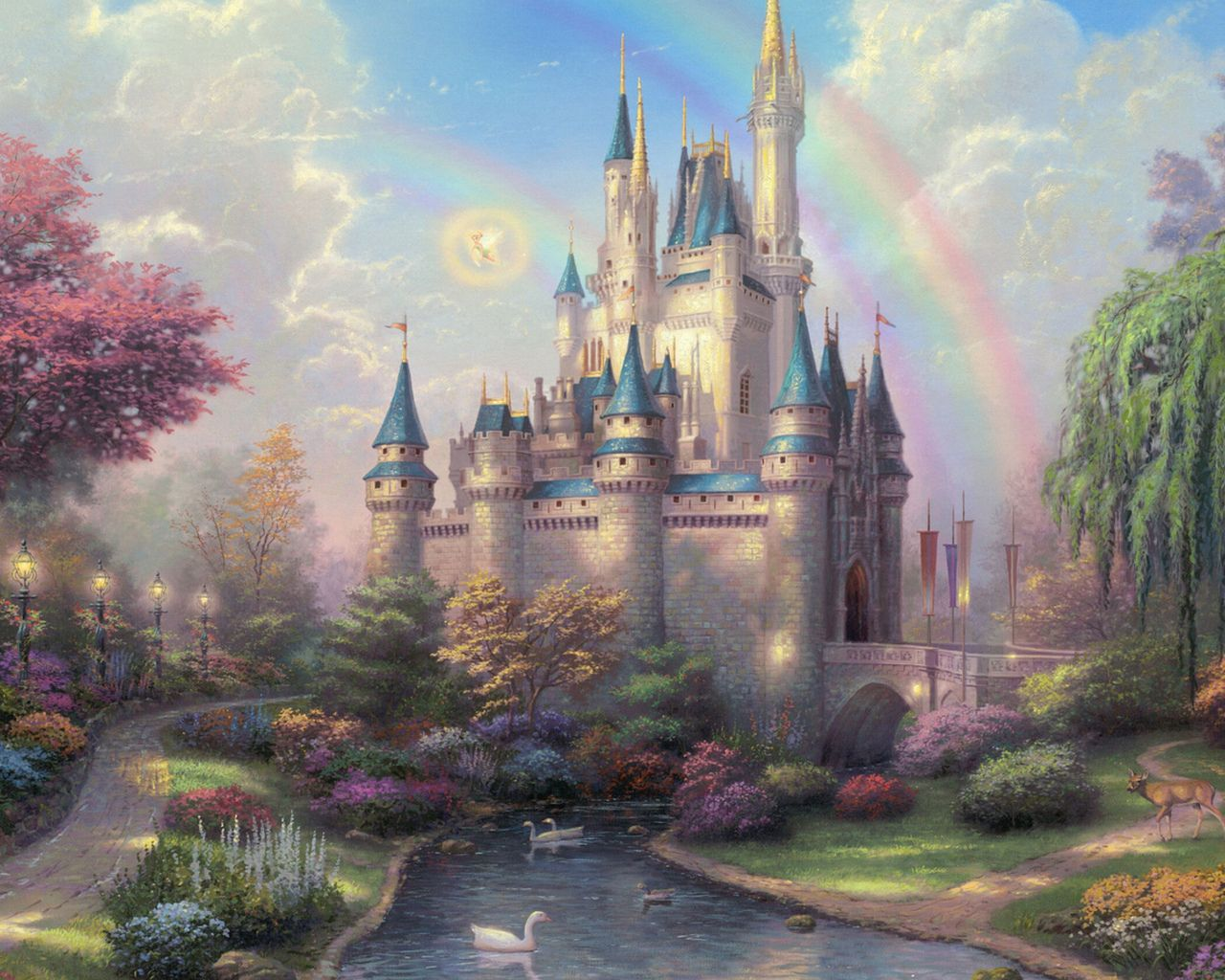 волшебные замки фэнтези - Поиск в Google | Томас кинкейд ...