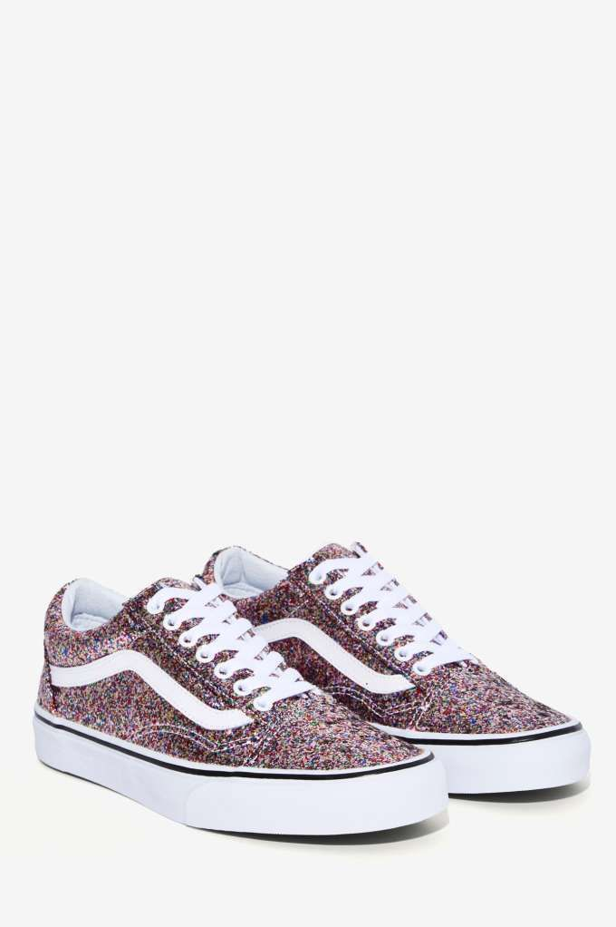 75df1812c8 Vans Old Skool Leather Sneaker - Glitter - Sneakers