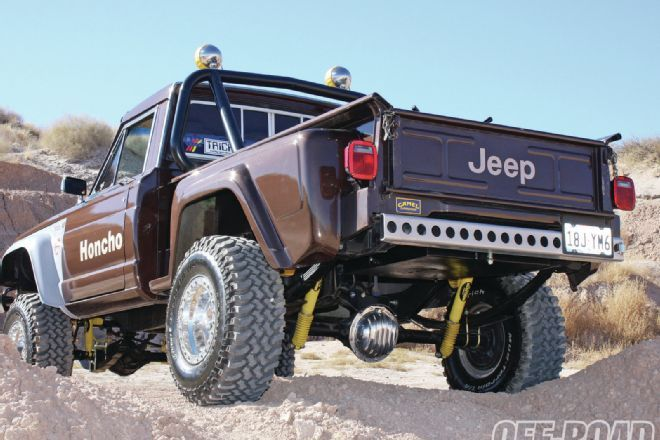 1108or 08 1980 Amc Jeep Honcho J10 Stepside Rear Angle Photo