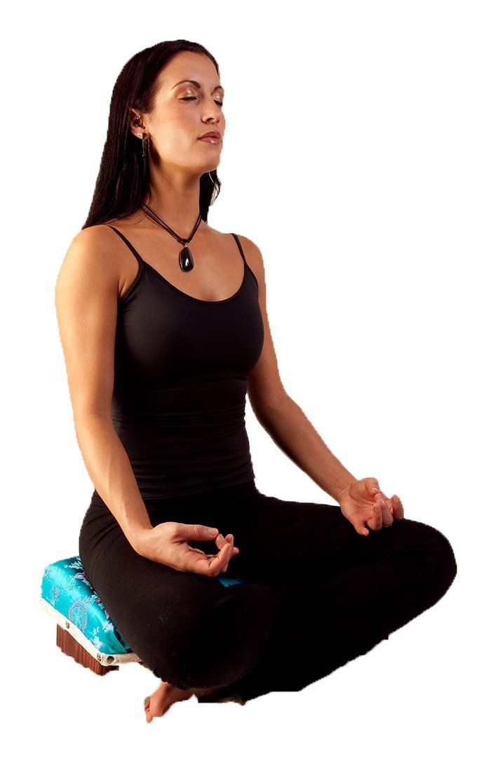Amazon Com Pivotal Meditation Chair With Brocade Cushion Black