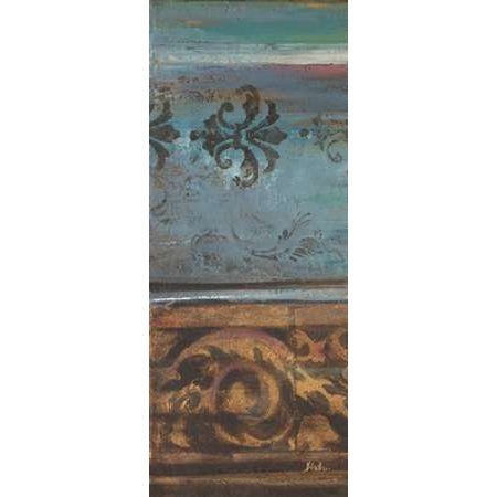 Blue Eclectic V Canvas Art - Patricia Pinto ()