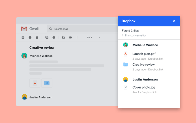 Dropbox add-on makes it easier to manage Gmail attachments | Google