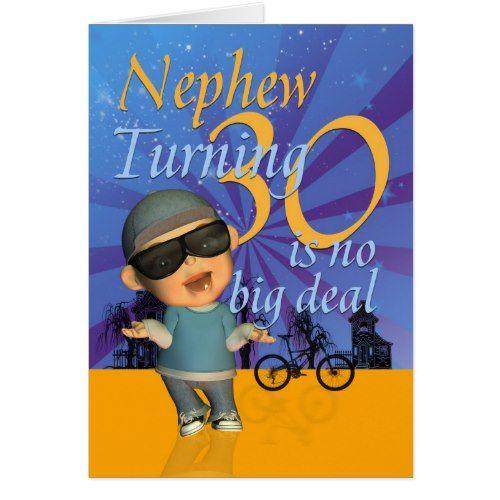 Nephew - 30th Birthday Card Cute Dude | Zazzle.com | 30th ...