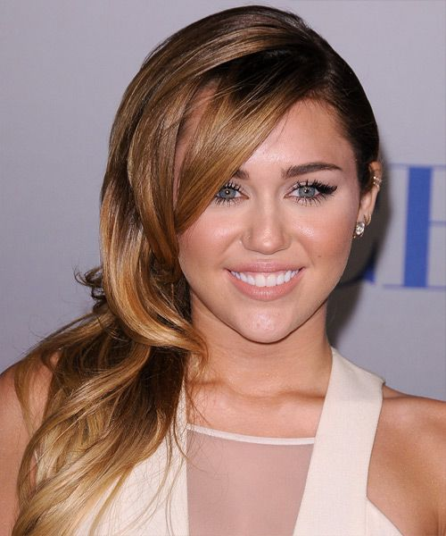Prime Miley Cyrus Hairstyle Long Straight Formal Thehairstyler Com Short Hairstyles For Black Women Fulllsitofus
