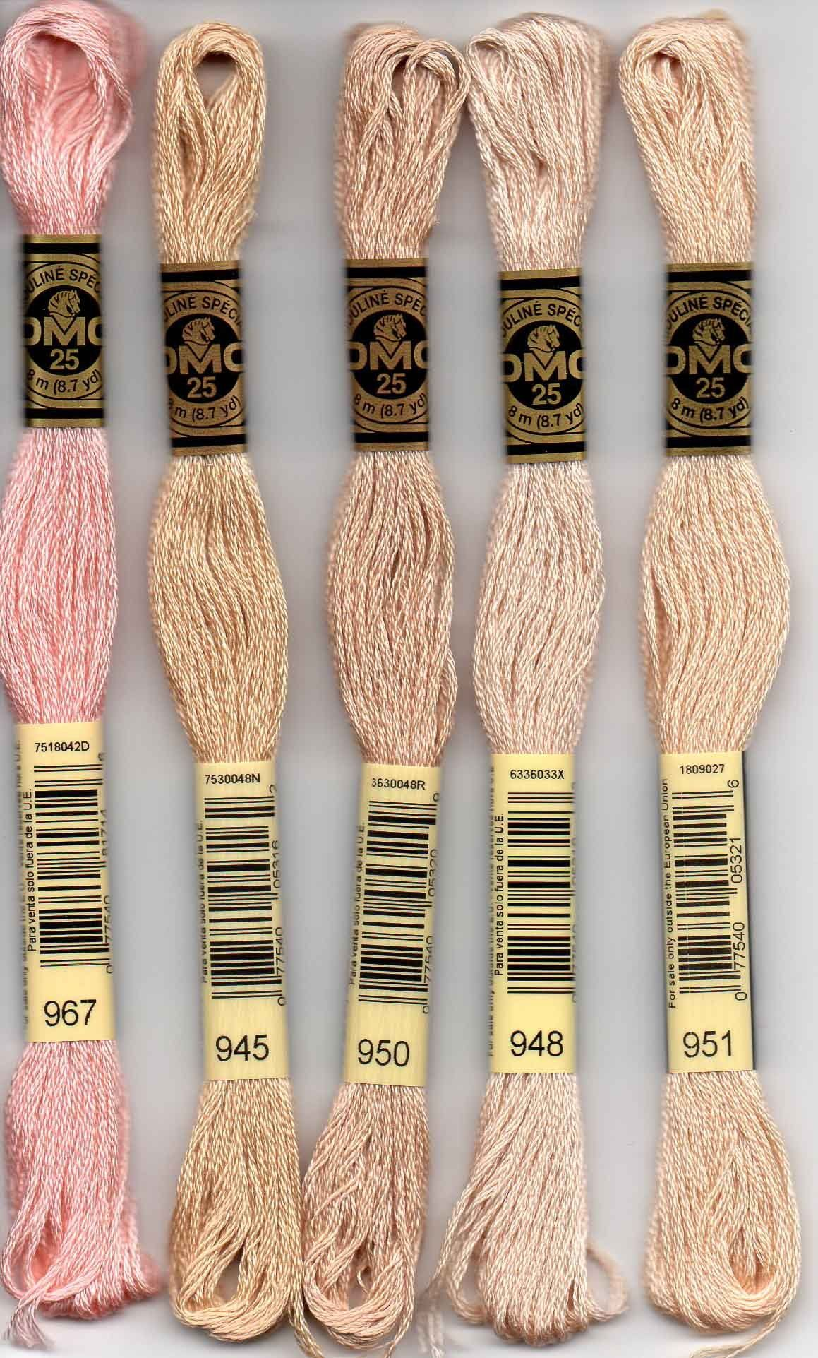 DMC Stranded Cotton Embroidery Floss Colour 945 Tawny