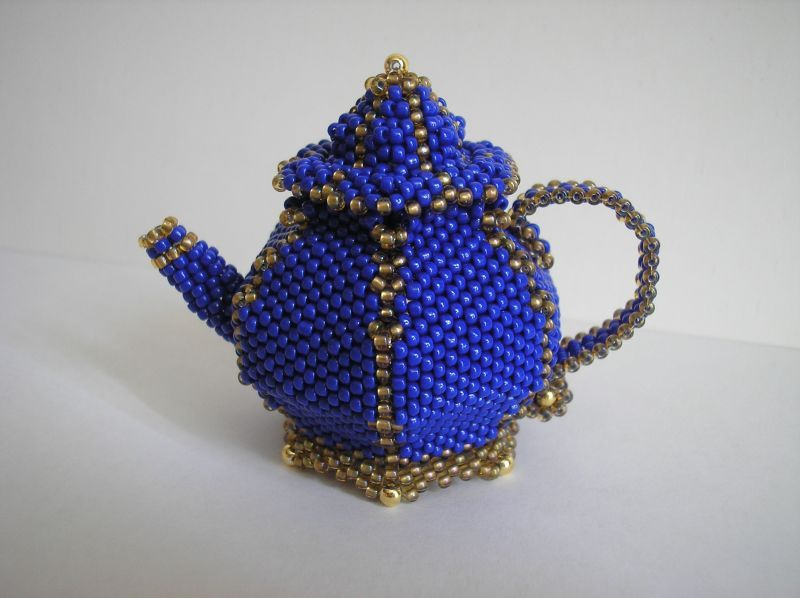 Beaded Teapot Picture Step By Step Tutorial May Need
