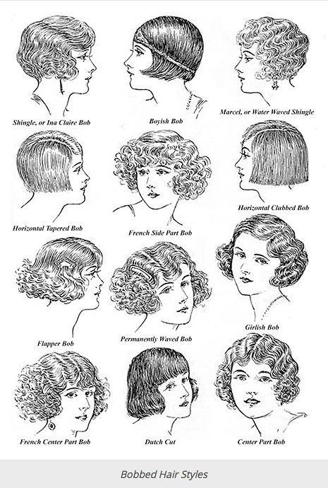 Typische kurze Frisuren der 20er und 30er Jahre,  #1920sfashionhairstyles #20er #30er #der #F... #1920smakeup