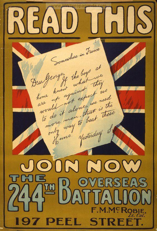 WW1 British enlistment poster | Meet MythAmerica: World War 1 and ...