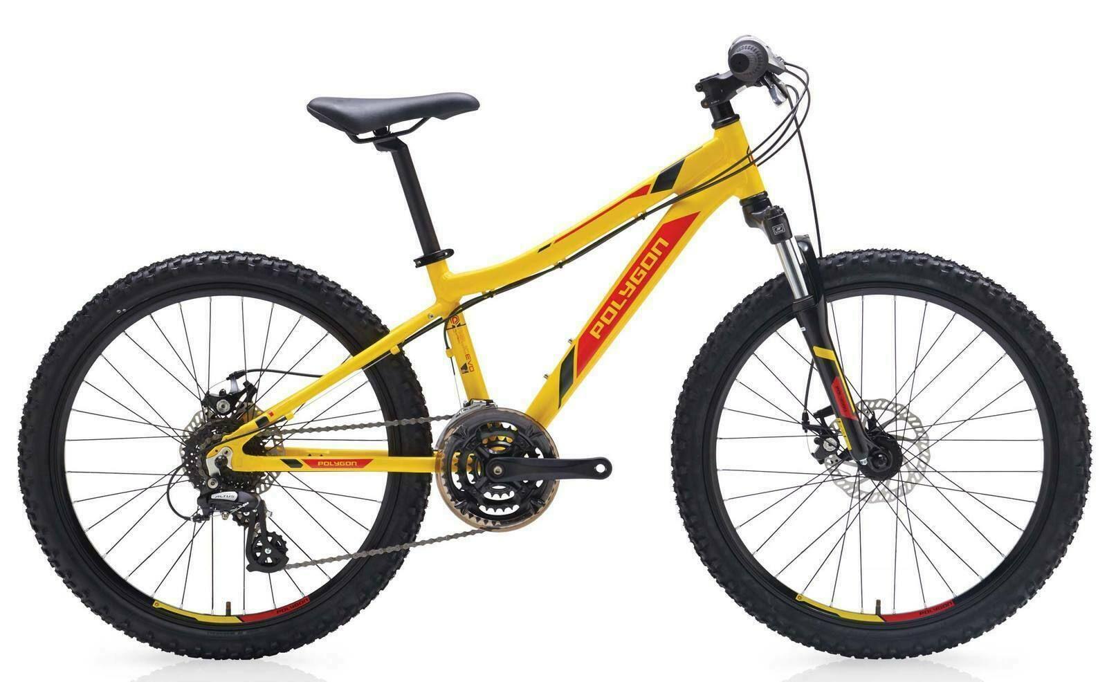 Polygon Relic 24 Evo Kids Mountain Bike 24 Inch Wheels Mountain