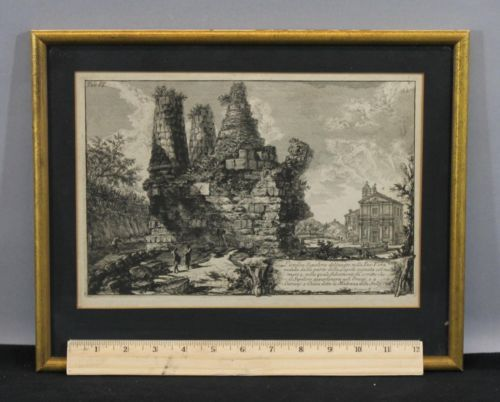 18thC Antique G.B. PIRANESI Etching Print Via Appia Sepolcro in Albano Laziale https://t.co/HmrqLKg9OY https://t.co/CCcAkbdpVj