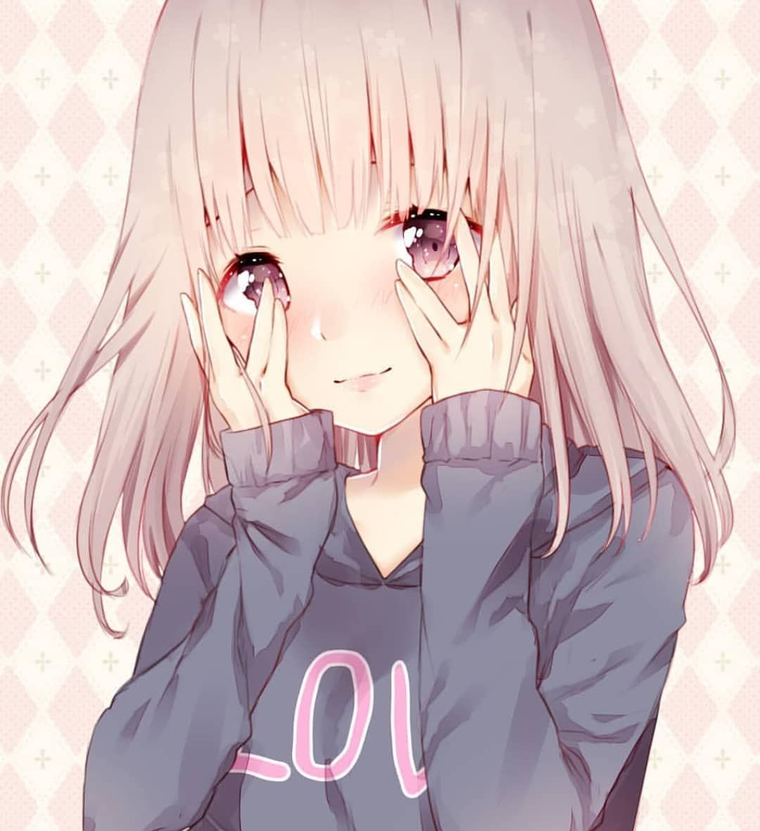 Anime Animegirl Kawaiigirl Kawaii Otaku Cute Pink Blue Eye