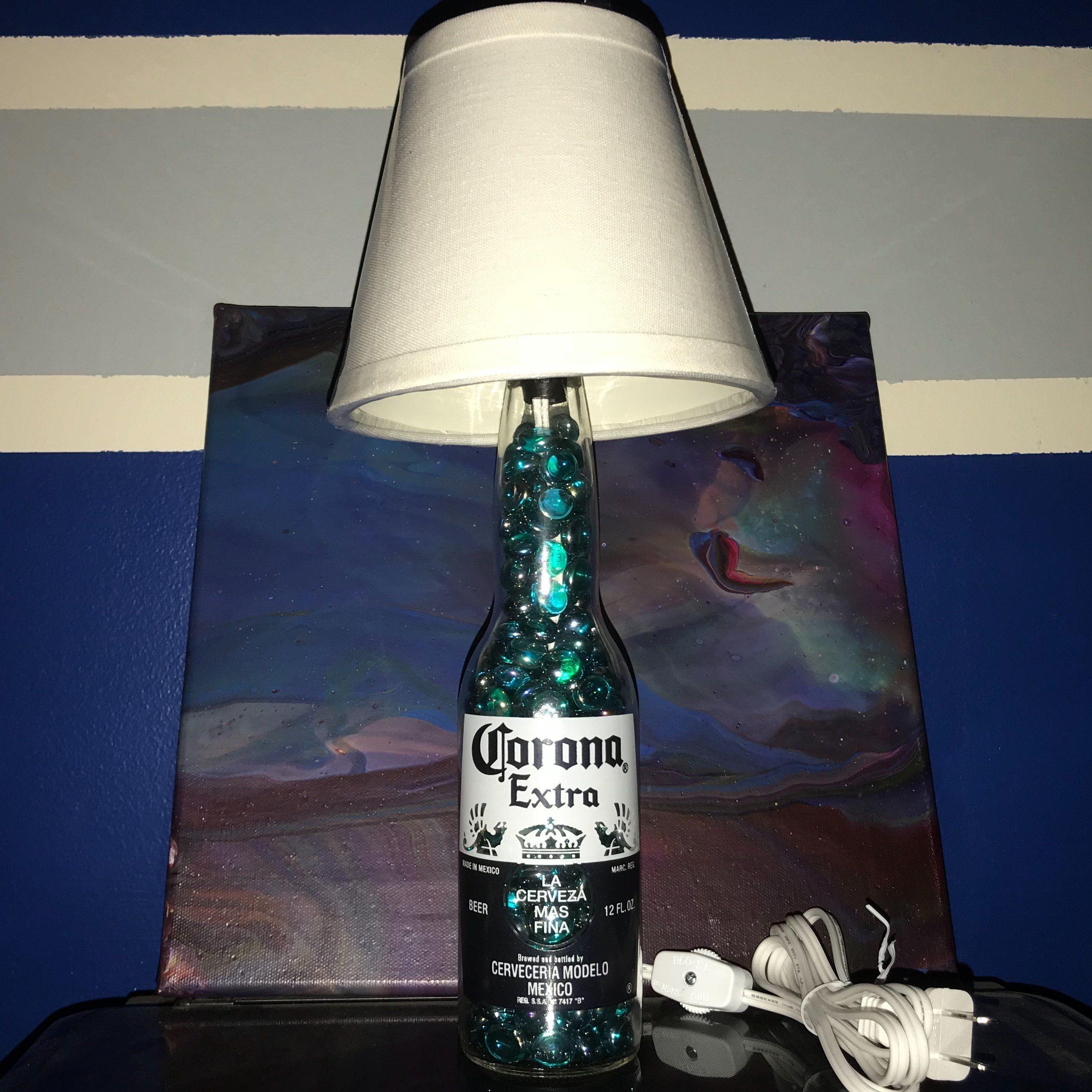 Glass Corona Bottle Lamp BottleLamp Glass Corona