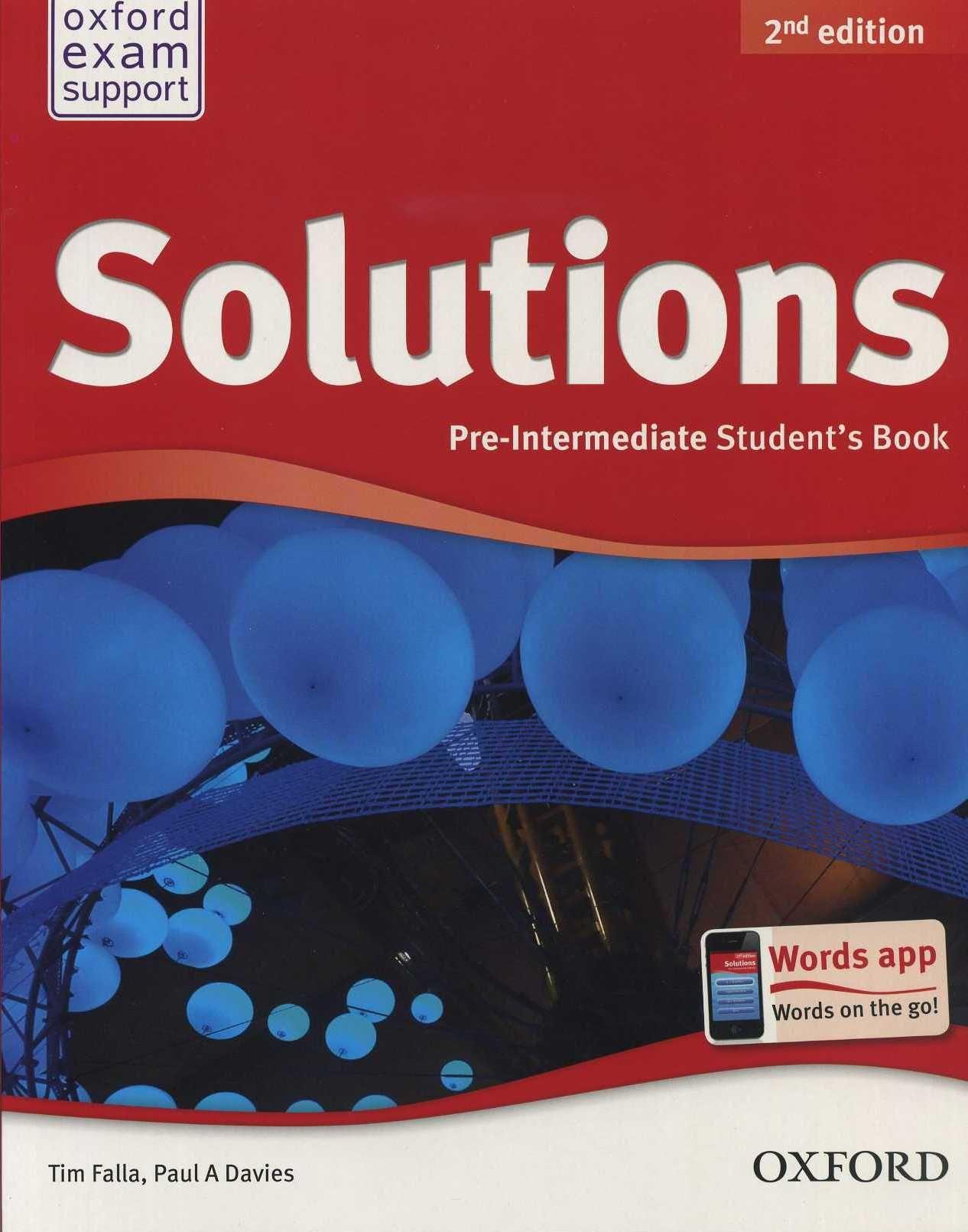 Купить solutions pre-intermediate second edition: workbook with cd-.