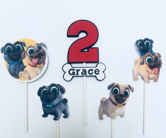 Puppy Dog Pals Cupcake Toppers Dogs and puppies, Puppies