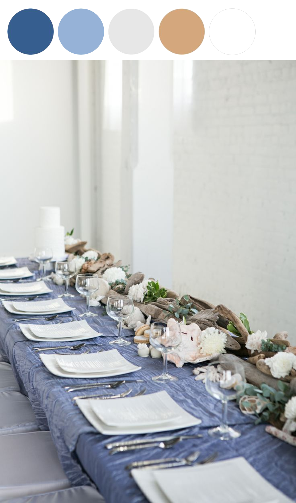Ocean Chic: Styled Pretty - www.theperfectpalette.com - Color Ideas for Weddings + Parties