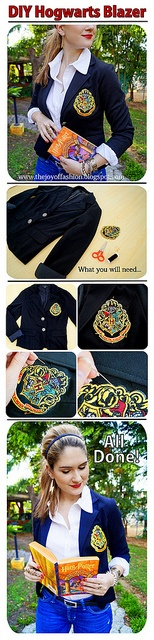 Make your own DIY Harry Potter Hogwarts Blazer -yeah this ...