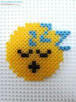 Mod le smiley qui dort en perles repasser hama smiley - Smiley perle a repasser ...