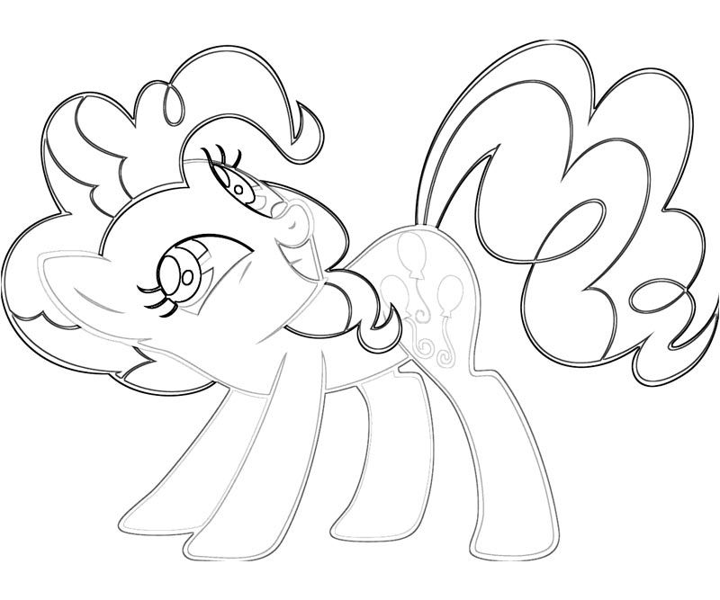 pinkie pie coloring pages - Pinkie Pie Coloring Pages