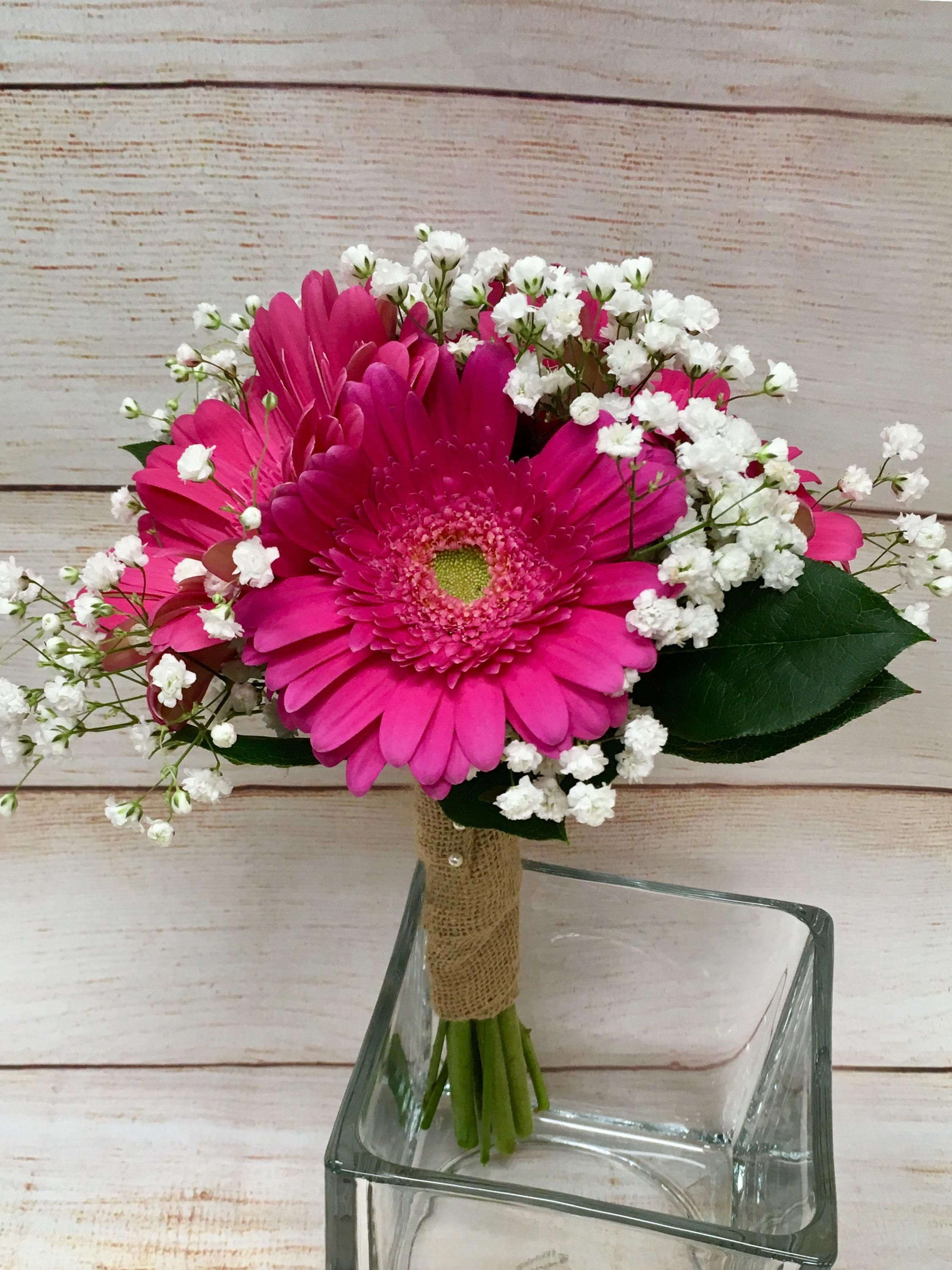 What About A Vibrant Hot Pink Gerbera Daisy Bouquet For Your Fun