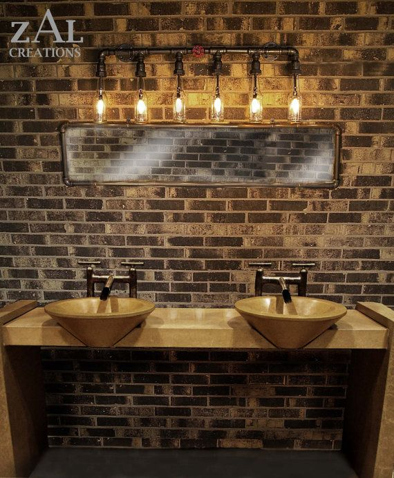 Vanity Light Wall Light Beer Bottles Plumbing Pipebathroom Etsy In 2020 Rustic Bathroom Lighting Vanity Lamp Rustic Lighting