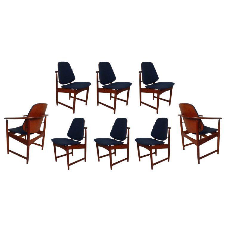 Set Of Eight Danish Modern Dining Chairs By Hovmand Olsen