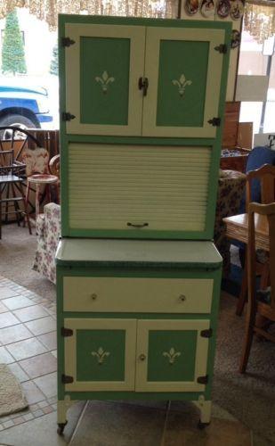 """RARE Antique Kitchen """"Hoosier Style"""" Cabinet Restored ..."""