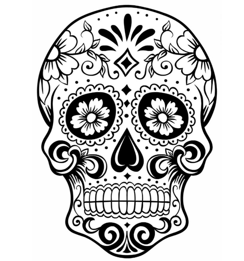 Mexican Sugar Skull Coloring Pages Bestappsforkids Com Skull Coloring Pages Skull Art Drawing Sugar Skull Art Drawing