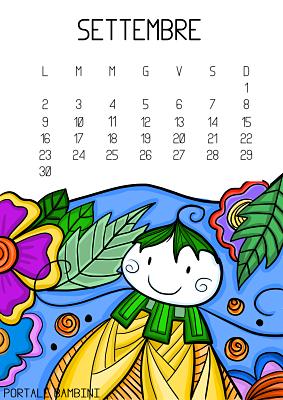 Calendario Illustrato.Calendario Illustrato Da Stampare 2019 Portale Bambini