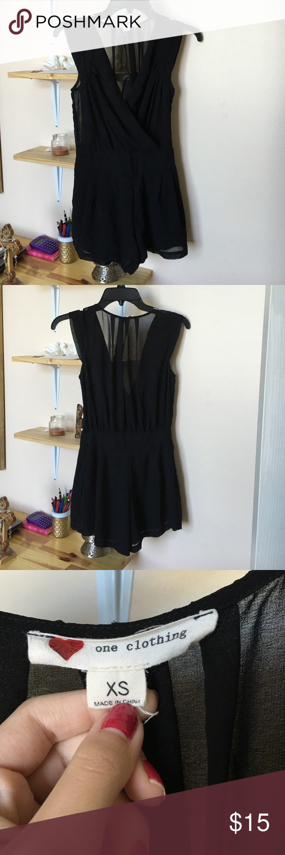 80c9696b36a One Clothing romper One Clothing black romper. Only worn a few times one  clothing Pants Jumpsuits   Rompers