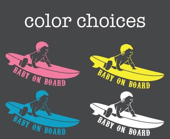 Baby on Board Surf Decal by slaps on Etsy