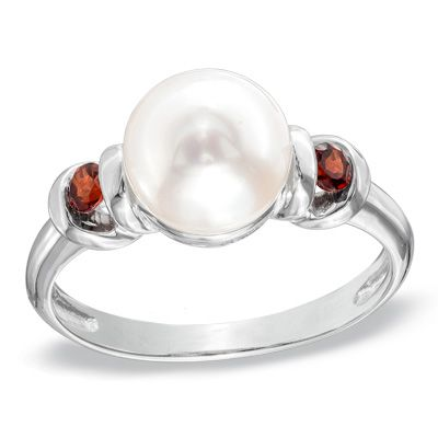 Zales 8.0 - 8.5mm Cultured Freshwater Pearl and Diamond Accent Pendant in Rose Rhodium Sterling Silver zM4FzqA6R