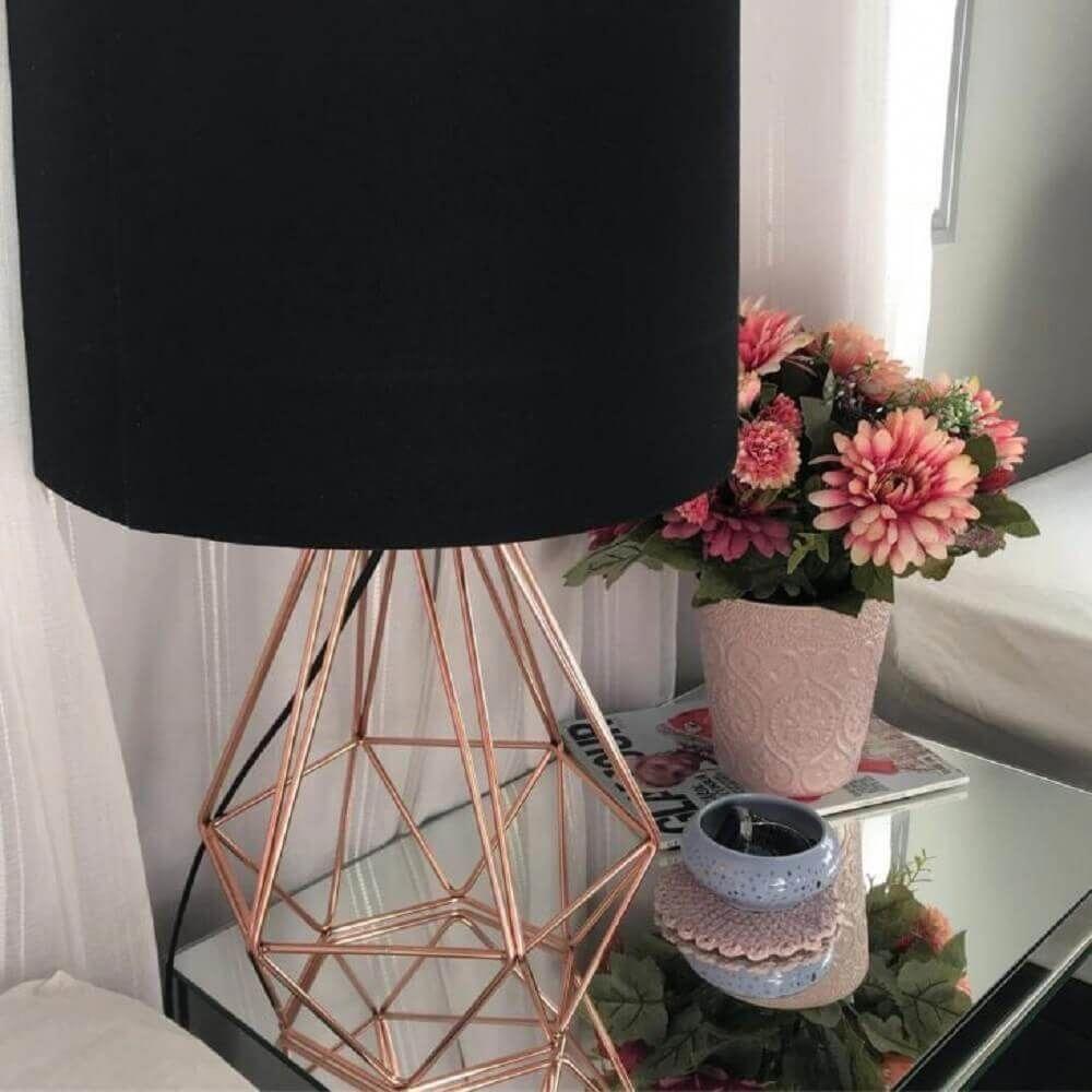 abajur com base na cor rose gold #decoratinghomerosegold ...