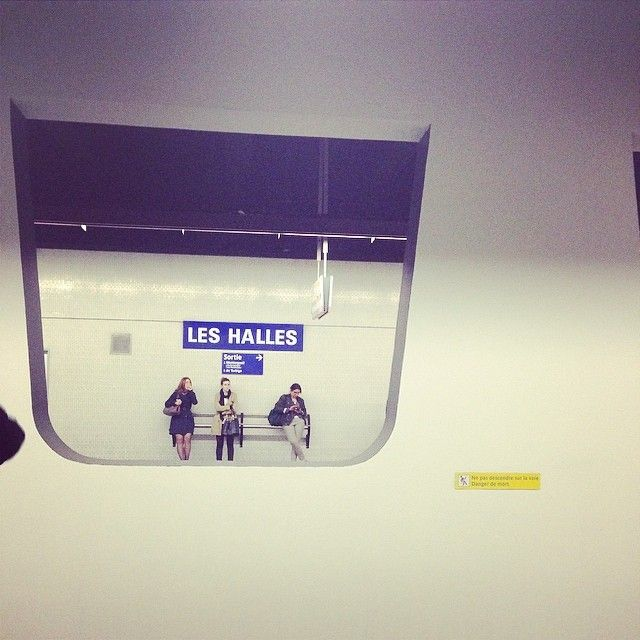 sophie_carre's photo on Instagram paris Les halles metro