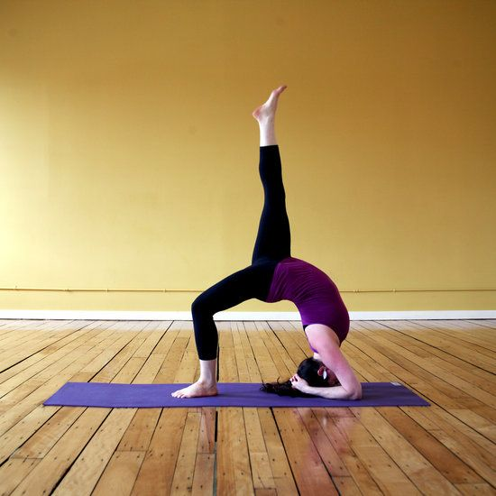 One-Legged Inverted Staff is a beautiful yoga pose that definitely strengthens the back, glutes, and hamstrings.