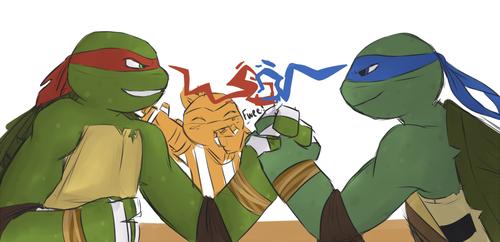 I Wounder Who Would Win Raph Or Leo Ninja Turtles Art Tmnt