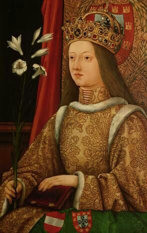 Eleanor of Portugal (18 September 1434 – 3 September 1467) was Empress of the Holy Roman Empire. She was a Portuguese infanta (princess), daughter of King Edward of Portugal and his wife Leonor of Aragon. She was the consort of Holy Roman Emperor, Frederick III, and the mother of Emperor Maximilian I.