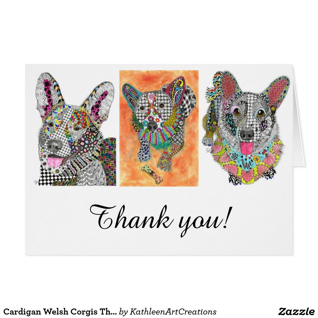 Cardigan welsh corgis thank you greeting card cardigans thank you cardigan welsh corgis thank you greeting card m4hsunfo Images