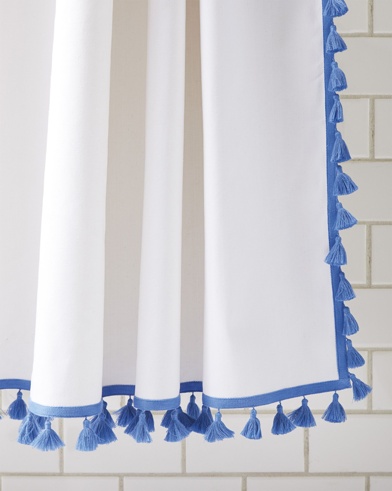 French Tel Shower Curtainfrench Curtain Blue