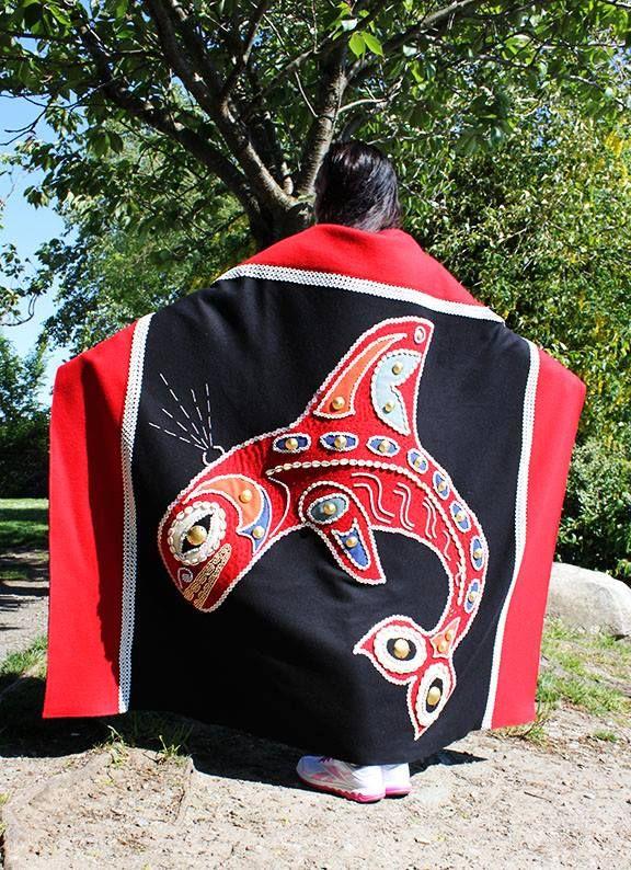 Button Blanket created by renowned Haida artist Hazel Simeon.