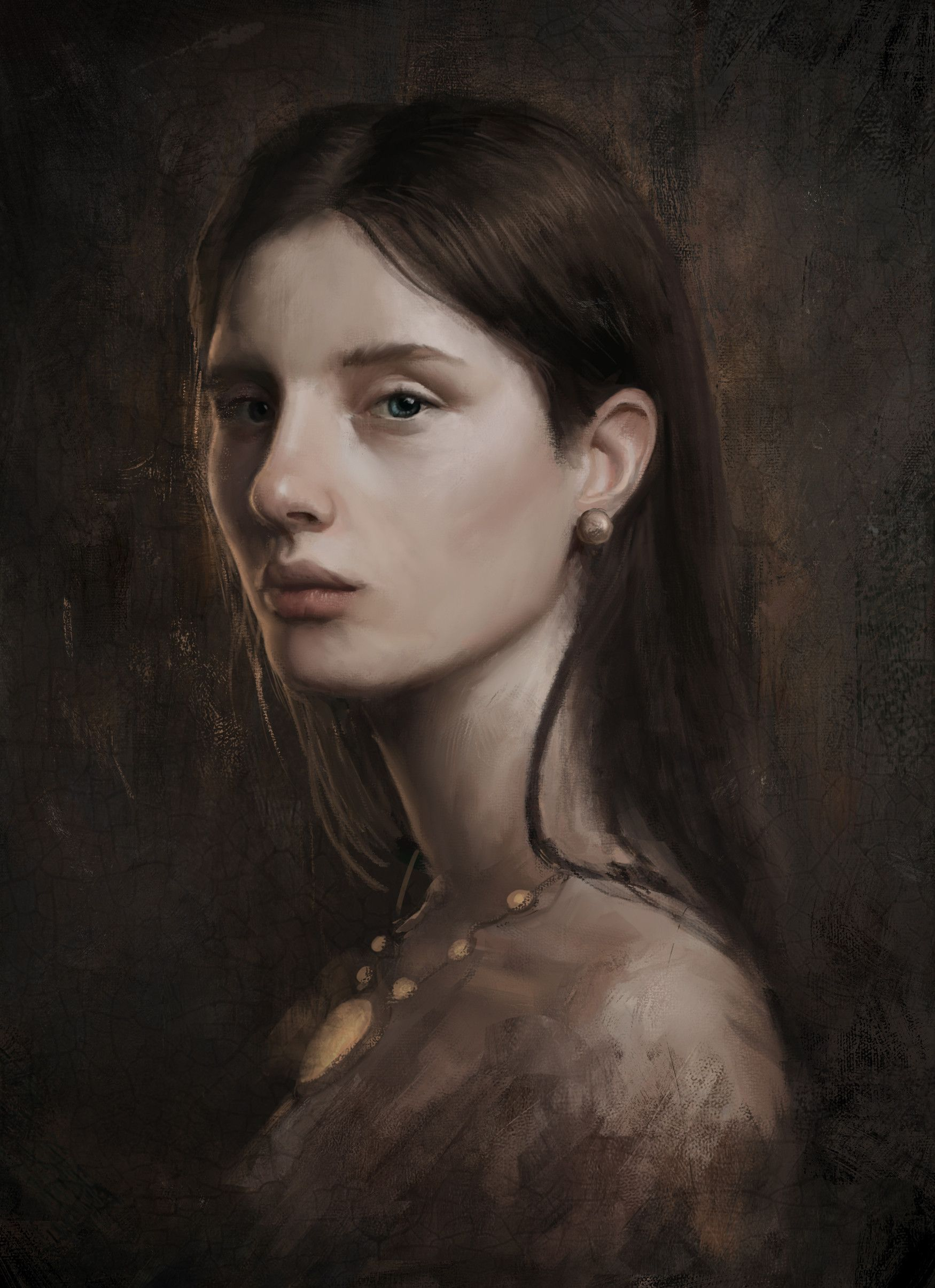Artstation Victoria Dennis Van Kessel Portrait Digital Painting Portrait Character Portraits