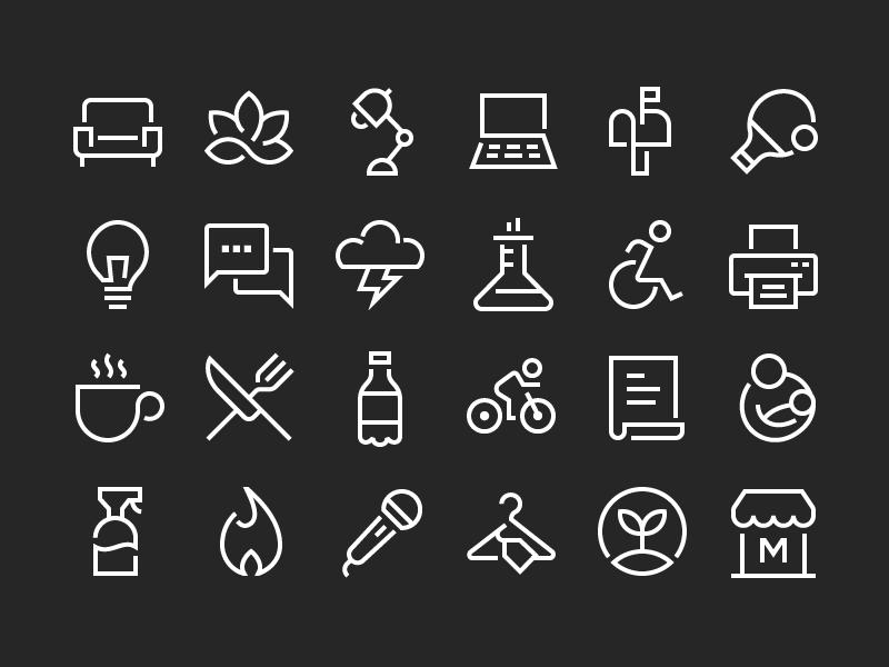 Wework Wayfinding Icons Work Icon Wayfinding Toilet Icon