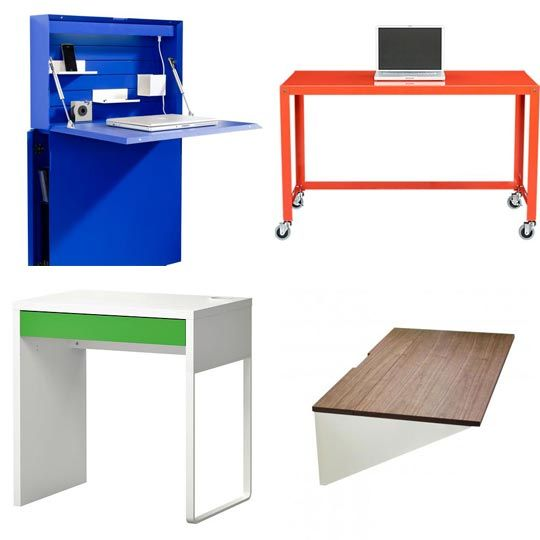 Living Spaces Office Furniture: Think Thin: Slim Desks For Small Spaces