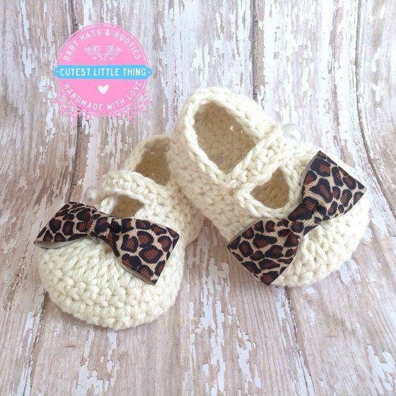 Botitas de bebé niña, leopardo bebé niña botines, zapatillas de bebé ...
