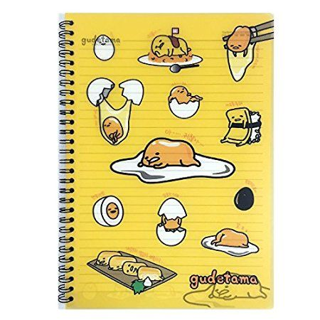 Sanrio Gudetama Lazy Egg PP Cover College Ruled Notebook