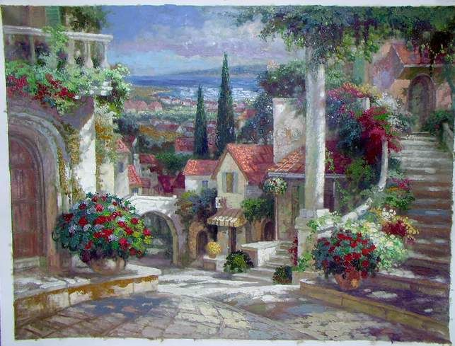 Flower Garden Paintings oil paintings of flower gardens rose garden oil painting garden